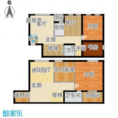 鑫源银座A号楼A-19 四室三厅双卫 约193.08平米户型