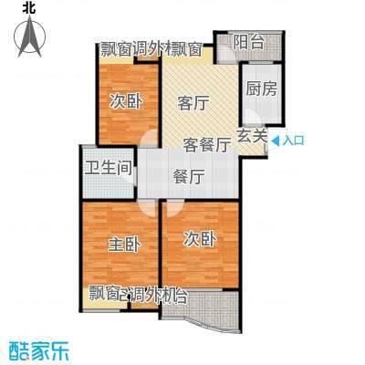 金润家园户型3室1厅1卫1厨