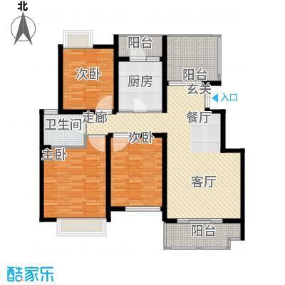 弘阳尊邸116.00㎡1#4#12#B户型3室2厅1卫