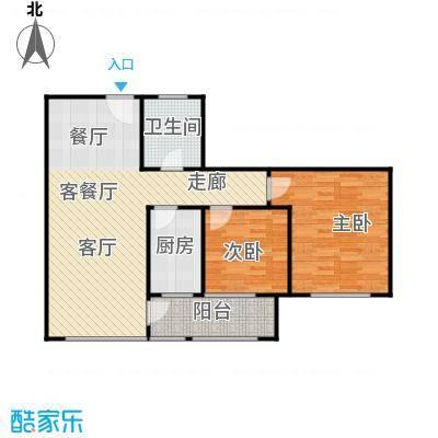 金润家园户型2室1厅1卫1厨