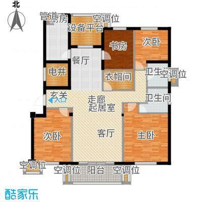 尚湖中央花园户型4室2卫1厨
