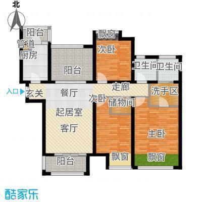 弘阳尊邸127.00㎡10#D3户型3室1厅2卫