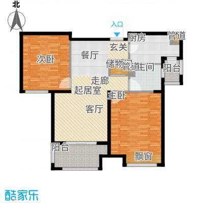 弘阳尊邸95.00㎡9#10#11#D2户型2室2厅1卫