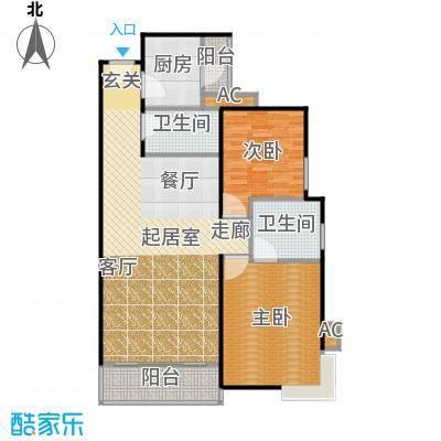 吉发花园100.00㎡房型: 二房; 面积段: 100 -135 平方米; 户型