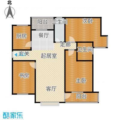 新世纪绿树湾143.87㎡A1户型3室3厅2卫