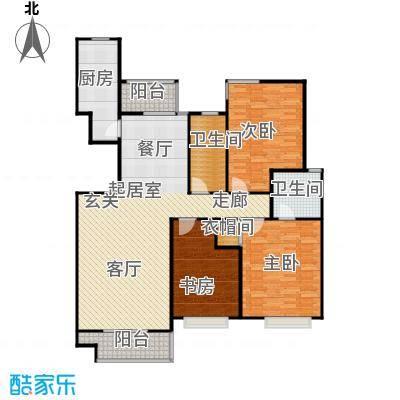 新世纪绿树湾135.28㎡B2/B6户型3室2厅2卫