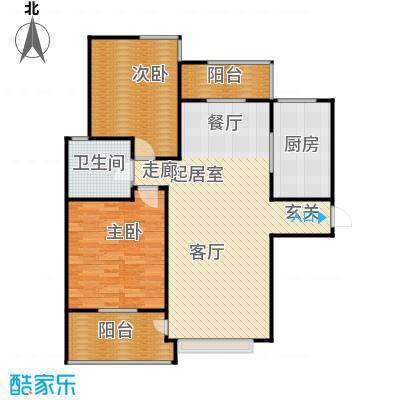 新世纪绿树湾107.96㎡B5户型2室2厅1卫