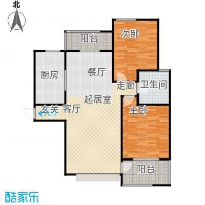 新世纪绿树湾107.17㎡B3户型2室2厅1卫