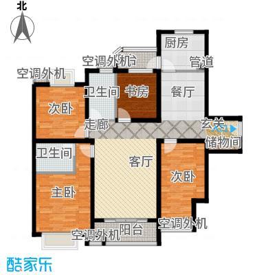 兴平昌苑154.88㎡房型: 四房; 面积段: 154.88 -154.88 平方米; 户型