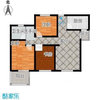 翰林世家87.00㎡D2奇数层户型2室2厅1卫