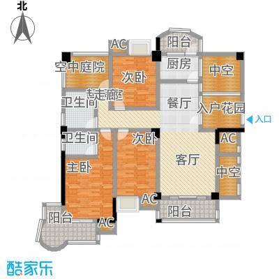 百盛国际名都136.00㎡B3户型3室2厅2卫