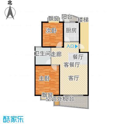 平盛苑91.00㎡房型: 二房; 面积段: 91 -98 平方米;户型