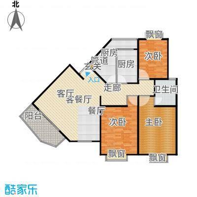 平盛苑123.00㎡房型: 三房; 面积段: 123 -139 平方米;户型