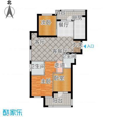 绿城御园143.00㎡高层F2户型3室2厅2卫