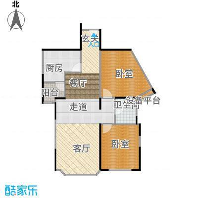 绿洲紫荆花园89.49㎡房型: 一房; 面积段: 89.49 -89.49 平方米; 户型