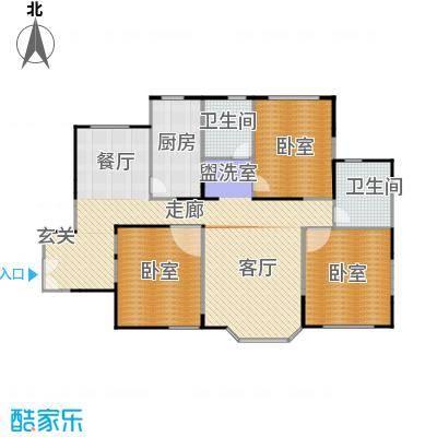 绿洲紫荆花园150.90㎡房型: 三房; 面积段: 150.9 -150.9 平方米; 户型