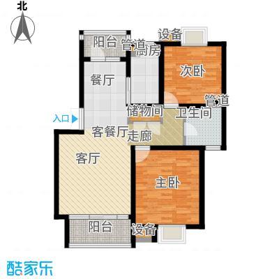 泰宸舒庭89.84㎡房型: 二房; 面积段: 89.84 -126.33 平方米;户型