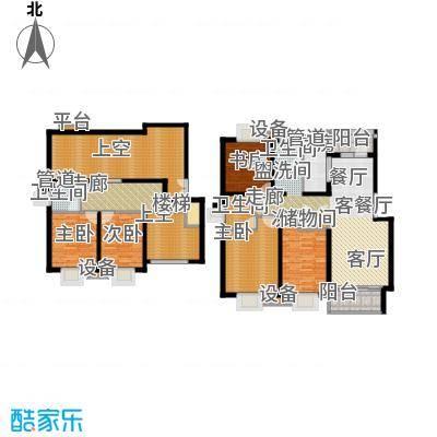 泰宸舒庭172.62㎡房型: 复式; 面积段: 172.62 -196.56 平方米;户型