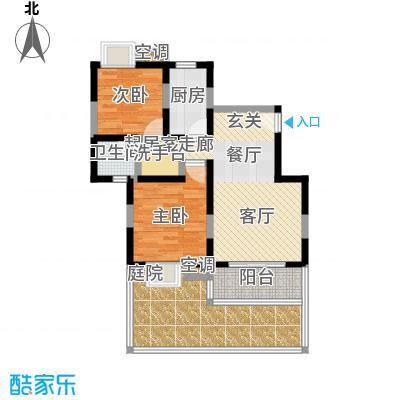 澳丽映象嘉园80.00㎡房型: 二房; 面积段: 80 -130 平方米; 户型