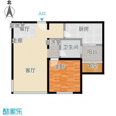 申地公寓二期80.56㎡房型: 一房; 面积段: 80.56 -80.56 平方米; 户型