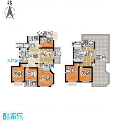 月泉湾名邸184.48㎡房型: 复式; 面积段: 184.48 -236.67 平方米;户型