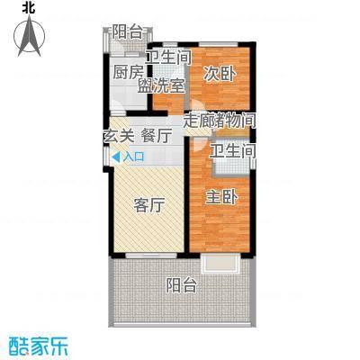 屹立家园三期88.00㎡房型: 二房; 面积段: 88 -102 平方米;户型