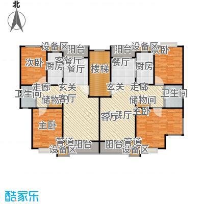 新月丽苑户型4室2厅2卫2厨