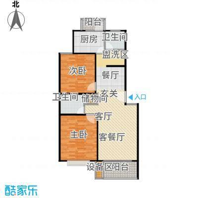 康泰东苑84.00㎡房型: 二房; 面积段: 84 -100 平方米;户型