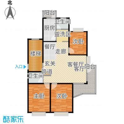 康泰东苑104.00㎡房型: 三房; 面积段: 104 -146 平方米;户型