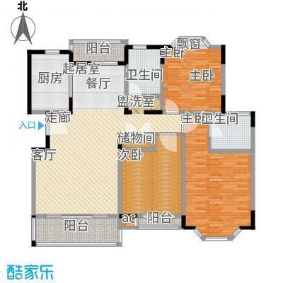 郁庭峰南园123.00㎡房型: 三房; 面积段: 123 -134 平方米; 户型