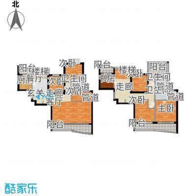 长宁新城206.65㎡房型: 复式; 面积段: 206.65 -289.23 平方米;户型
