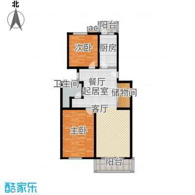 煜王苑108.00㎡房型: 二房; 面积段: 108 -117 平方米; 户型
