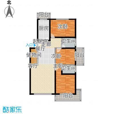 煜王苑125.00㎡房型: 三房; 面积段: 125 -136 平方米; 户型