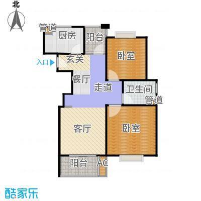 招商南桥1号80.00㎡二房二厅一卫-87平方米-80套户型
