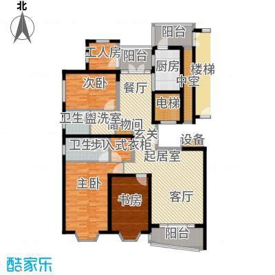 名江七星城房型户型3室2卫1厨