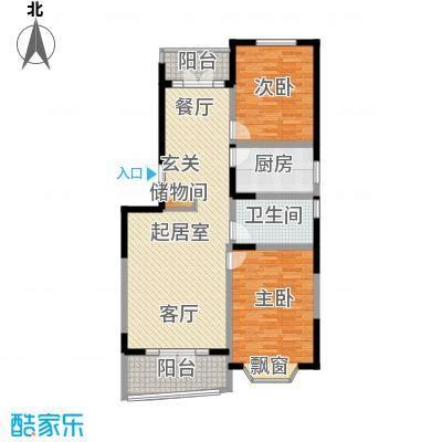 名江七星城房型户型2室1卫1厨
