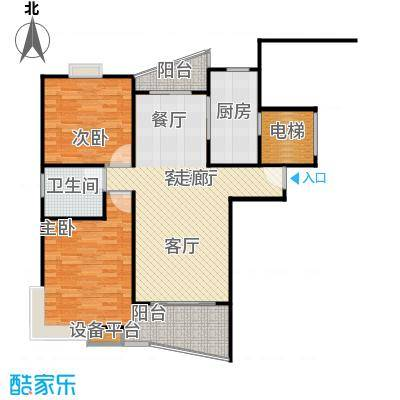 和润家园二期房型户型2室1厅1卫1厨