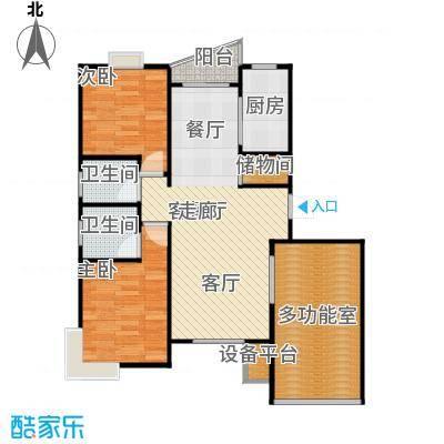 和润家园二期房型户型2室1厅2卫1厨