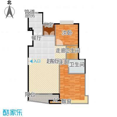 大上海国际花园二期未命名户型3室2卫1厨