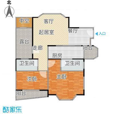 金汇名人苑房型户型2室2卫1厨