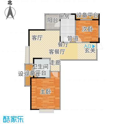 保利家园83.00㎡G户型 两室一厅一卫户型2室1厅1卫