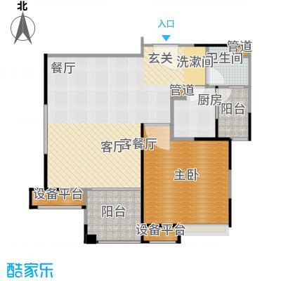 保利家园83.00㎡H户型 一室一厅一卫户型1室1厅1卫
