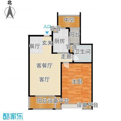 保利家园户型1室1厅1卫1厨