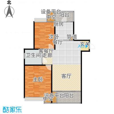 保利家园户型2室1厅1卫1厨