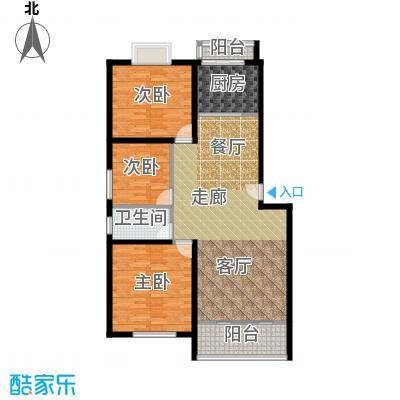 合顺景苑户型3室1厅1卫1厨