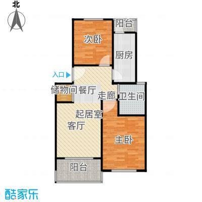 虹梅佳苑72.00㎡房型: 二房; 面积段: 72 -105 平方米;户型