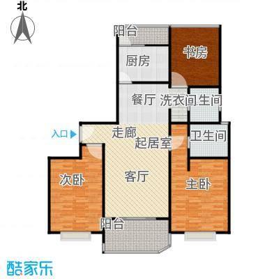 虹梅佳苑120.00㎡房型: 三房; 面积段: 120 -122 平方米;户型