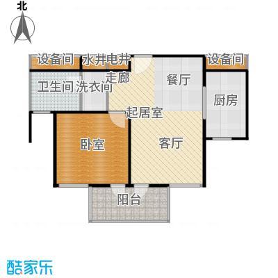 金色西郊城66.00㎡房型: 一房; 面积段: 66 -66 平方米; 户型