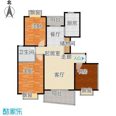 金色西郊城108.00㎡房型: 三房; 面积段: 108 -128 平方米; 户型