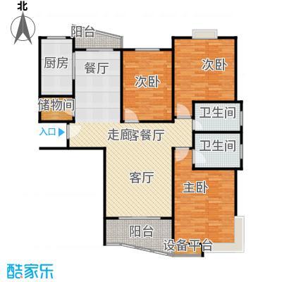 和润家园二期房型户型3室1厅2卫1厨